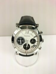 And Co. Automotive Watch-leather Wht