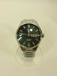 Tagheuer Automatic Watch Analog Stainless Black Silver 2020 07 Oh