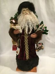 Lynn Haney Victorian Memories Handcrafted Santa 6204 From'96 Signed With Tag