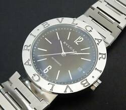 bvlgari Bb38ssauto Stainless Steel Automatic Black Dial Menand039s Wrist Watch