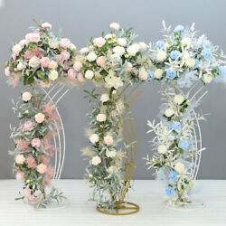 4pcs Floor Flower Vase Metal Stand Table Rack Home Event Christmas Party Decor