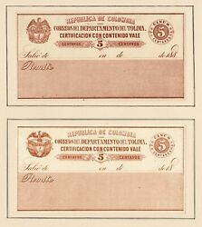 Columbia 1859-1908 Nearly Complete Value Letter-insurance-stamps O/