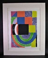 Sonia Delaunay-terk 1885-1979 Carre Noir 1969 - Lithographie Sign. No.43/100