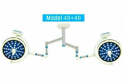 Double Arm Ot Room Light 48+48 Surgical Operating Lights Ceiling Sterilizable