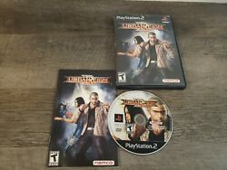 Tested Urban Reign Ps2 Sony Playstation 2 2005 Black Label Complete W/manual