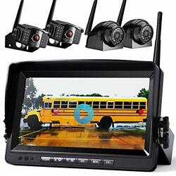 1080p Wireless Backup Camera W/ Built-in Recorder 9 Fhd Monitor, Front Rear Sid