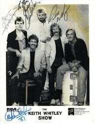 Keith Whitley Show Signed 8x10 Press Photo-country Music-authentic Jsa Coa