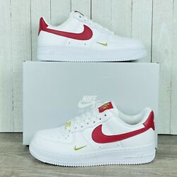 Wmns Nike Air Force 1 '07 White Gym Red Gold Cz0270-104 Women's Size 6-11 Rare