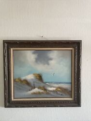 Vintage Oil Painting Framed Signed Hary Frey Beautiful Antique Painting