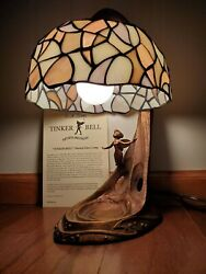 Limited Edition Disney Tinker Bell Style Stained Glass Lamp