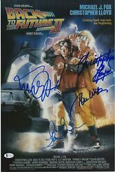 Back To The Future Ii Cast Autographed 12 X 18 Movie Poster With 4 Signatures