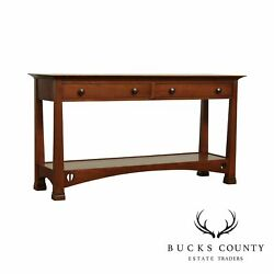 Stickley Highlands Collection Arts And Crafts Style Cherry Console Table