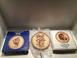 Lot Of 3 Vintage Hummel Collector Plates 1976, 1977 And 1981. Pre-owned