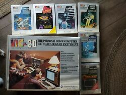 Commodore Vic -20 Computer With 6 Games