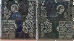 2 Stained Glass Panels From Victorian Church In England Jl003e/r Delivery Option