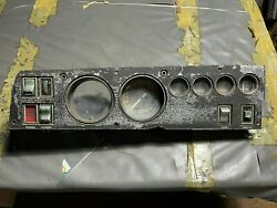 1969 Dodge Charger Rallye Dash Cluster Gauges Switches Face Plate B-body Gtx 69