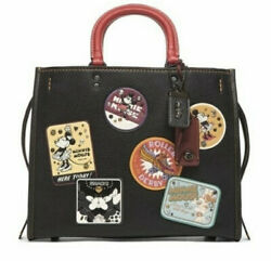 Coach Rogue Patch Disney Collaboration Minnie Black Used From Japan