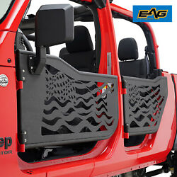 Eag American Flag Tubular Door With Side Mirror Fit For 20-21 Jeep Gladiator Jt