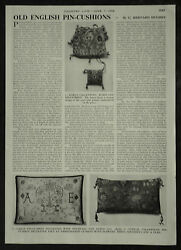 Old English Pin Cushion Antique Sewing History Of 1956 2 Page Photo Article