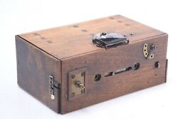 ✅ Antique Wood Stereo Box Camera 6x6cm 120 Roll Film Unknown Lenses Focussing