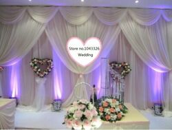 Wedding Party Event Decorative Backdrop Wall Hanging Stage Swag Gauze Curtain