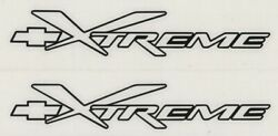 2x CHEVY XTREME 8quot; Black Decals Stickers for Truck Shop Windows Toolbox...