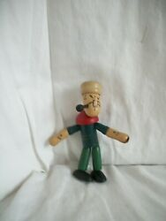 1930's Popeye Sailor Fully Jointed Wood Figure By Kfs King Features Syndicate