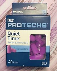 Flents Protechs Quiet Time Foam Ear Plugs 40 Pair Nrr 33db Smooth Tapered Soft