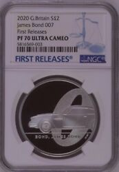 Ngc Pf70 1oz Great Britain Uk 2020 James Bond 007 Silver Coin 2 Pounds Last One