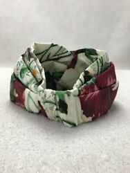 Headband Hairband Multi-color Floral Pattern Silk Size M