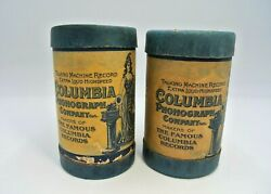 Lot 2 Columbia Phonograph Company Cylinders Fell In Love W Polly Uncle Josh