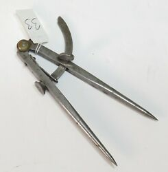 Antique 5.5 Peck Stow And Wilcox Usa Forged Machinist Wing Spring Divider Calipers