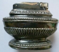 Lighter Ronson Queen Anne Silver Plated Table Lighter Reg No 850882 Antique Org
