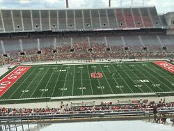 Four 4 Tickets - Ohio State Buckeyes Vs Michigan State Spartans 45 Yard Line