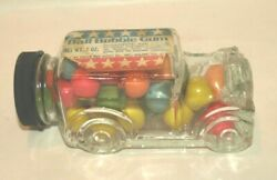 Vintage Ball Bubble Gum Glass Car Container Fresh Pak Candy Co. New Old Stock