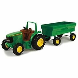 Tomy John Deere Kids Tractor Toy With Flarebox Wagon Set, 8 Inches