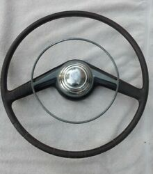 Vintage Lincoln Steering Wheel Translucent Red Lead Sled Hot Rod Custom 40and039s 50and039