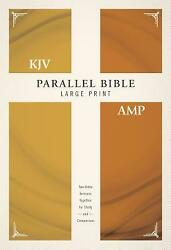 Kjv, Amplified, Parallel Bible, Large Print, Hardcover, Red Letter Edition Two