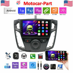 For 2012-2017 Ford Focus Car Stereo Radio 9and039and039 Android 10.1 Gps Obd Wifi + Canbus
