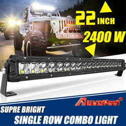 22inch 2400w Led Light Bar Spot Flood Combo Offroad Boat Ute Truck Suv Atv 20and039and039
