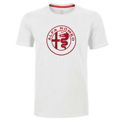 Alfa Romeo Mens T-shirt Serpentine Logo White Tee Official Licensed Product