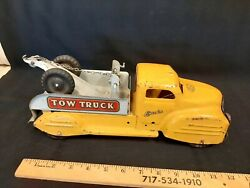 1940and039s Lincoln Toys Tow Truck Pressed Steel Toy - Original - Cdn