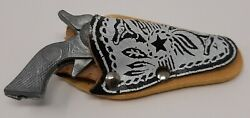 Vintage Mini Cap Gun And Holster Roy Rogers Style Solid Metal