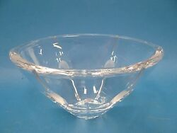 Modern Used Crystal Cut Frosted Glass Lenox Decorative Snack Bowl Decorative