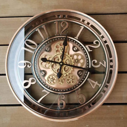 Infinity Time 21inch Real Moving Gear Wall Clock Vintage Industrial Steampunk