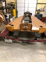 Delcraft 14 ' Tunnel Hull Race Boat. 1974 Wooden Boat Mercury Racing Outboard
