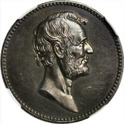Julian Pr-40 - C. 1882 Lincoln And Garfield Presidential Medal / Ngc Ms-63