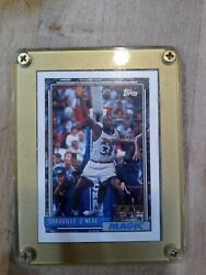 1993 Topps Shaquille Oand039neal 362 Basketball Card Gold Rim