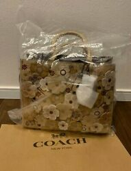Coach Rogue Tea Rose Tote Bag Floral New From Japan
