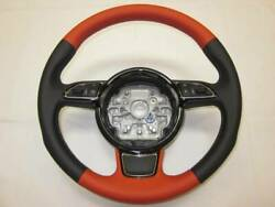 Audi A1 A3 A4 A5 A6 A7 A8 Q5 Q7 Rs3 Leather Steering Handle Nappa Belconia Red
